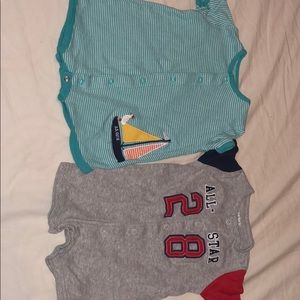 Brand is Carter's baby boy onesies size 3months